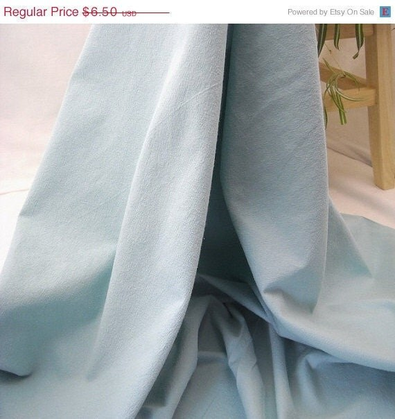 "Custom Listing for Jill Kona Crush Cotton Fabric - Aqua - 54"" Wide -  EOB"