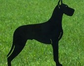Great Dane Metal Art Yard Stake Dog Garden Ornament