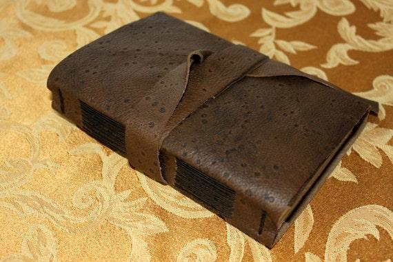 Reserved for Pamela - Rustic Leather Journal - Handmade