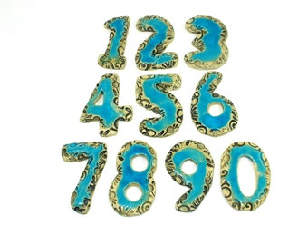 ceramic house numbers outdoor house numbers ceramic numbers wedding table numbers designed numbers door sign birthday - Decorative House Numbers