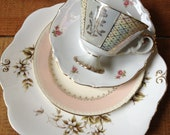 Matchy mismatchy taupe luster place setting