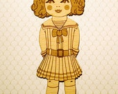 a girl wooden bookmark