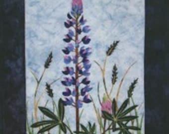 Lupine Wildflower Wildfire Designs Alaska Wallhanging Quilt Pattern