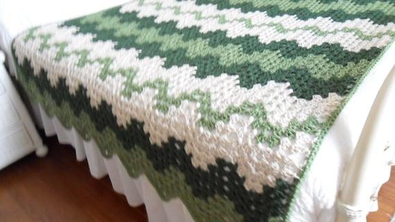 Crochet Afghan Queen Blanket Throw Bedspread by luvs2crochet