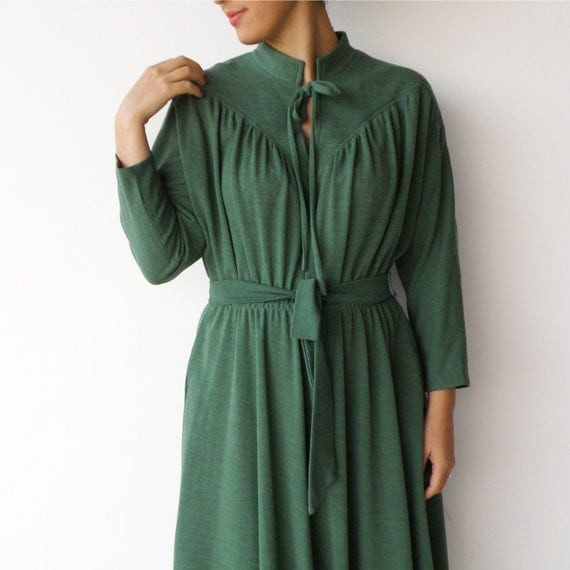 Vintage Emerald Dolman Triangle Dress