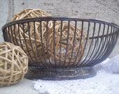 Vintage Silver Basket Shabby Chic Country Serving
