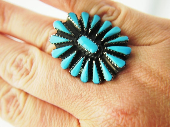 Turquoise Ring - Native American - Sterling - Vintage