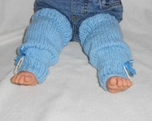 Baby Hand Knitted Legwarmers,Blue