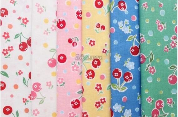 Small pieces of fabrics - Flower in cherry  by Atsuko Matsuyama