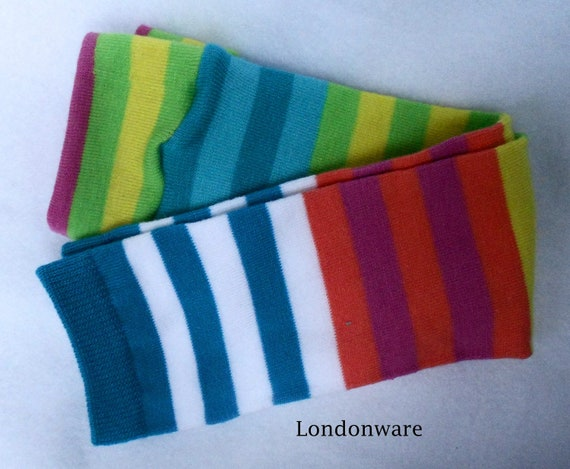 Pippi Longstocking  Arm/Leg warmers  (1 pair)