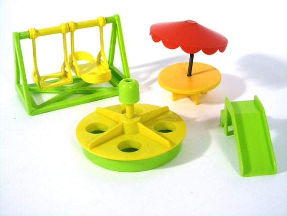 Fisher Price Little People Plastic Playground Lot of (4)