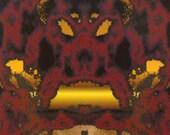 ACEO Earth Elemental digital art print rock fantasy face portrait fire limited edition nitelvr - 7 Card Draw