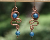 Quartz and Copper Earrings 071912-6