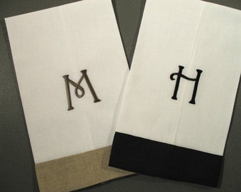 Monogrammed Linen Guest Towels (set of 2)