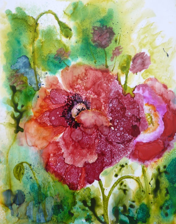 Alcohol Ink Print by Maure Bausch