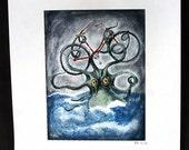 Bicycle versus Kraken fine art print