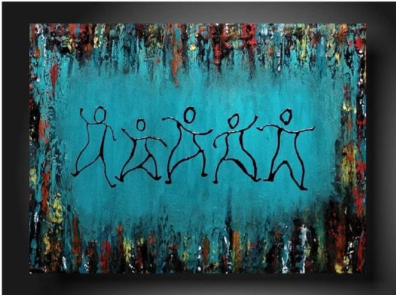Art original Abstract painting  JMJARTSTUDIO Original Painting 18 X 24 Inches-------Follow me---Textured-----