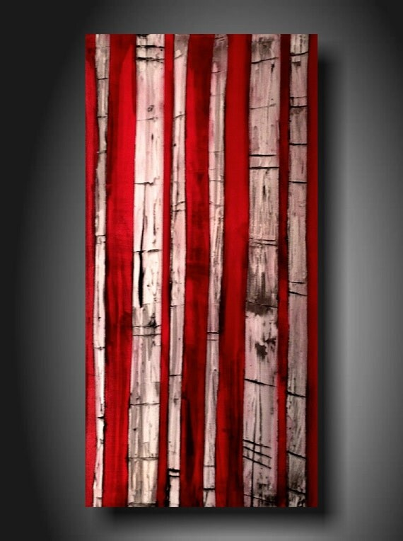 art original Abstractl Contemporary Fine Art Abstract Textured Painting modern 18 X 36 INCHES Trees Textured------- Turnabout--- ------
