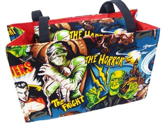 Frankenstein Monsters Horror Movies box size US handmade bag  Alexander Henry Fabric Handbag Purse
