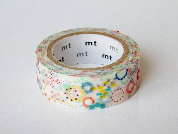 Limited Edition mt Japanese Washi Masking Tape-Colouful Pops