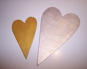 Hearts Large and Small Chipboard Set of 12