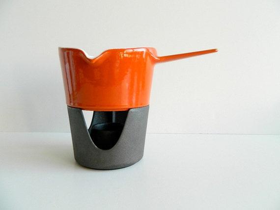 Copco Michael Lax Cast Iron Enamel Pot Warming Pot with Stand