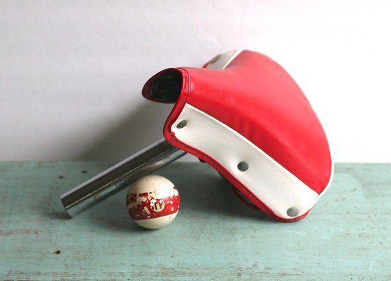 Vintage Troxel Bicycle Seat Red White