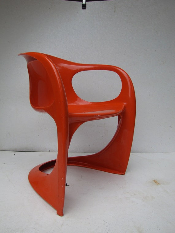 vintage Orange Alexander Begge Casalino  Arm chair Kartell Nelson Panton