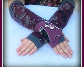 Fingerless  gloves  with pattern   protection from the sun