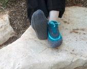 Leg  warmers,  slippers wool handknit.