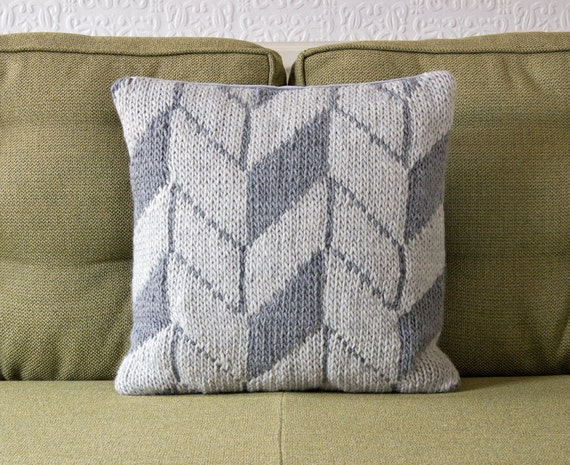 Modern Geometric Pattern Grey Pillow / Cushion Cover