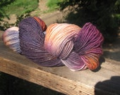 Hand dyed wool, mohair blend yarn, large skein