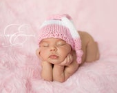 Newborn Baby Hat - Knotted Elf Hat - Knit Baby Hat, Choose Your Colors - Baby Photography Prop