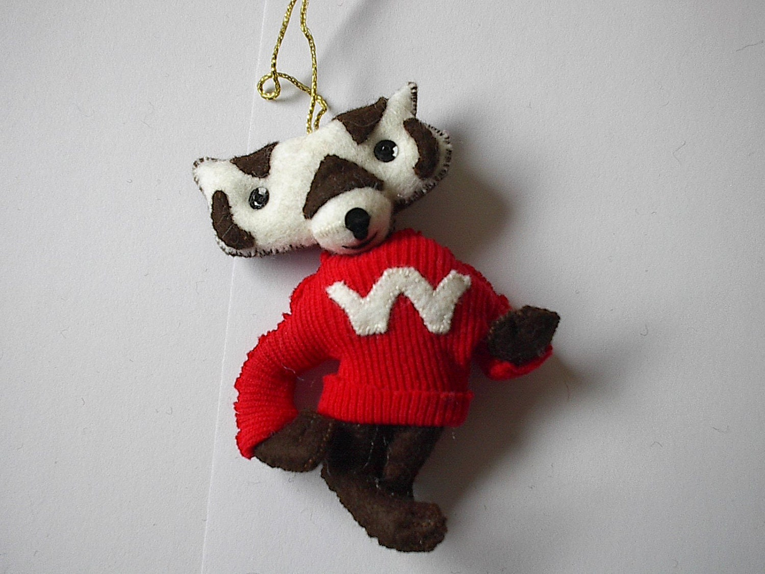 Bucky badger for Badger christmas decoration