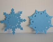 Papertrey Shimmer Blue Snowflake Die Cuts