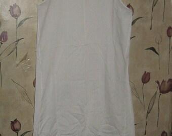 1960s Dixie Belle white full cotton polyester dress slip eyelet trim  size 36  never worn