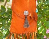 Hit the Trail medium leather fringe shoulder bag
