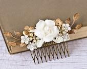 Bridal Hair Piece Wedding Hair Comb Bridal Hair Accessories Vintage Bridal Something Old Shabby Chic Wedding Hair Accessories