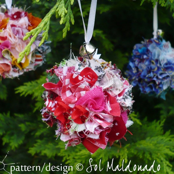 Items Similar To Christmas Tree Ornament Tutorial Fabric