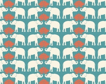 Organic Cotton Fabric-monaluna -Raaga- HAATHI - low shipping