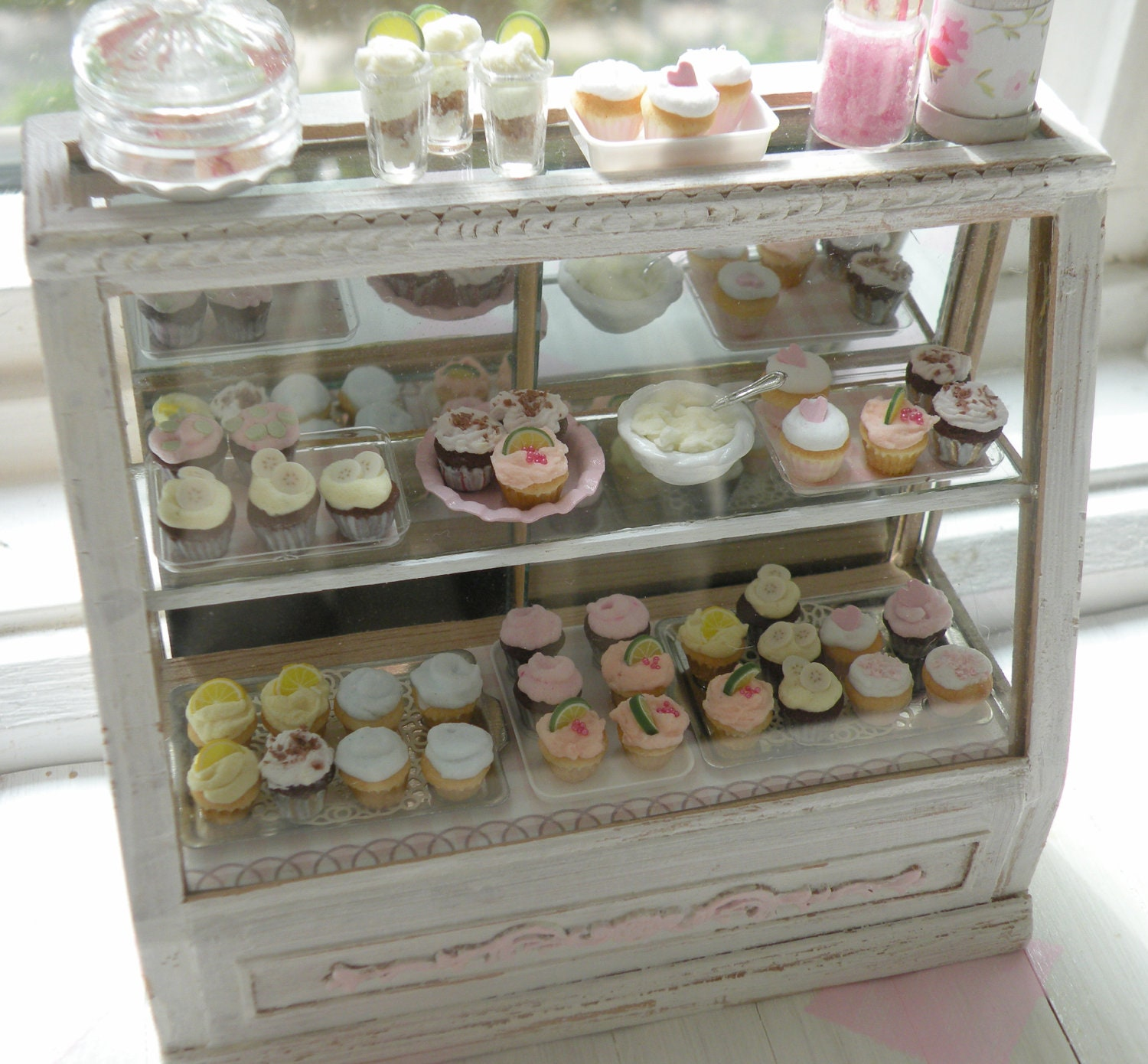 miniature stunning shabby chic bakery counter by. Black Bedroom Furniture Sets. Home Design Ideas