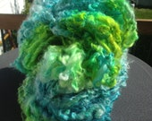 BlueGreen Algae  HandSpun and Hand Dyed Yarn