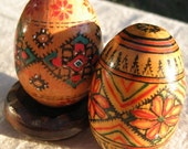 Vintage  Antique Wooden Pysanky Eggs / Special Request