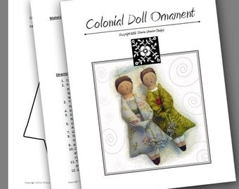 Colonial Doll Ornament Sewing PDF Pattern