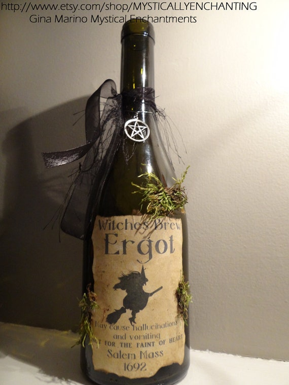 Primitive style Halloween WITCH Spell POTION Bottle ERGOT