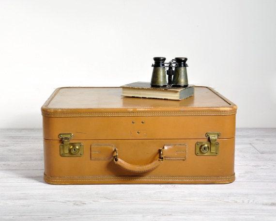 Vintage Leather Suitcase / Vintage Luggage