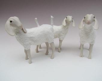 White Porcelain Nubian Goat Figure