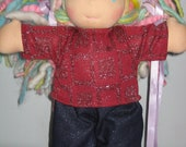 Sparkle Jeans  set made to fit 9 to 10 inch waldorf dolls