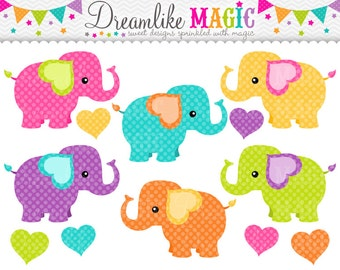 Sweet Elephants- Clipart for Personal or Commercial Use