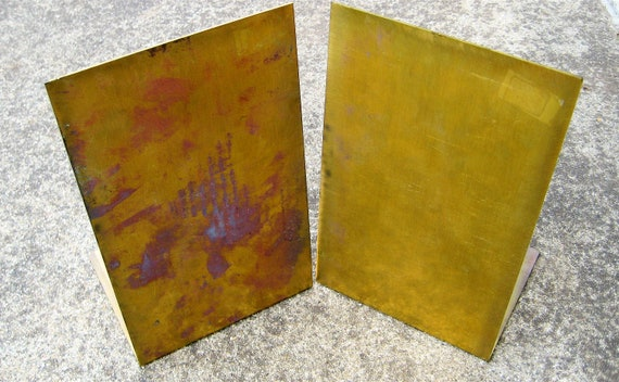Vintage Brass Bookends Mid Century Patina